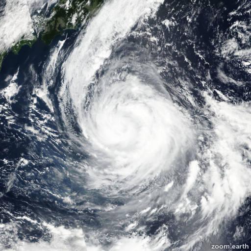 Satellite image of Typhoon Sanvu 2017