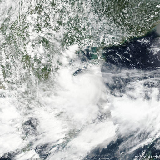 Satellite image of Storm Sonca 2017