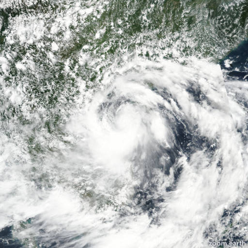 Satellite image of Storm Talas 2017