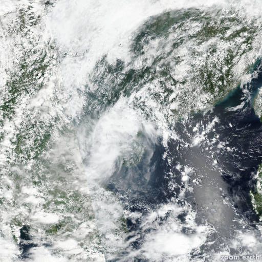Satellite image of Storm Barijat 2018
