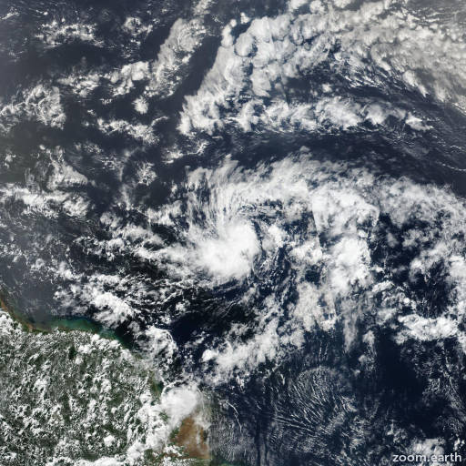 Satellite image of Hurricane Beryl 2018