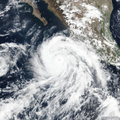 Satellite image of Hurricane Bud 2018