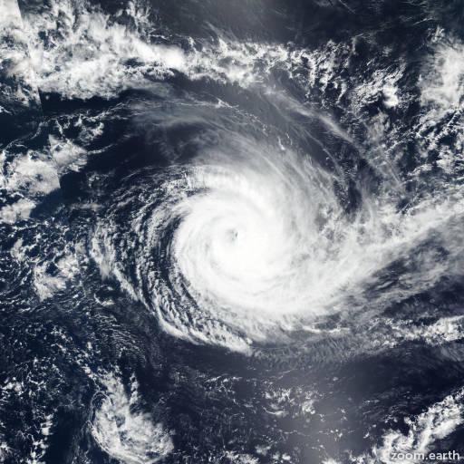 Satellite image of Cyclone Cebile 2018