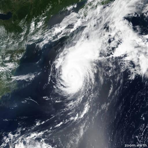 Satellite image of Hurricane Chris 2018