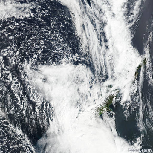 Satellite image of Cyclone Fehi 2018