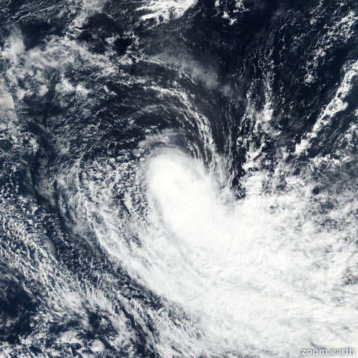 Satellite image of Storm Flamboyan 2018