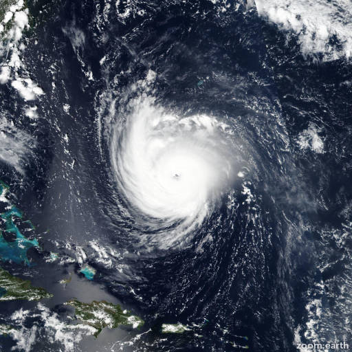 Satellite image of Hurricane Florence 2018