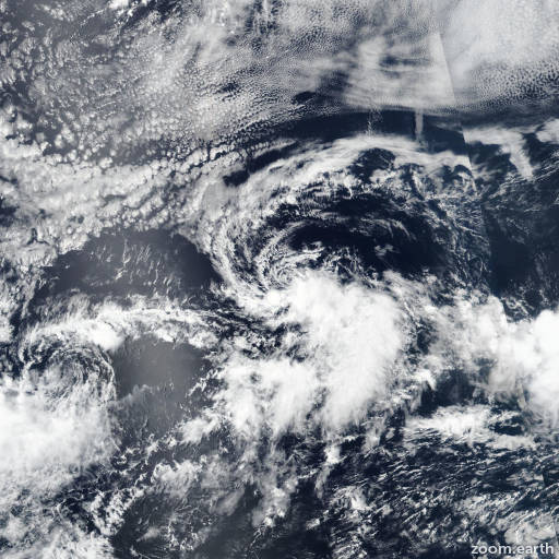 Satellite image of Storm Gilma 2018