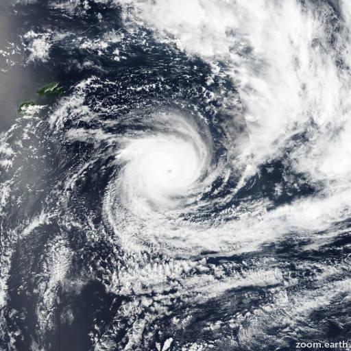 Satellite image of Cyclone Gita 2018