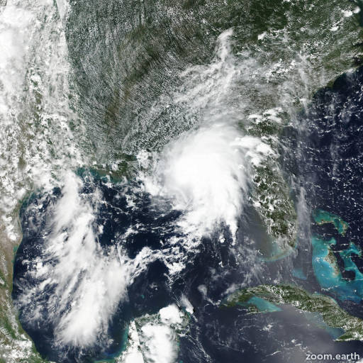 Satellite image of Storm Gordon 2018