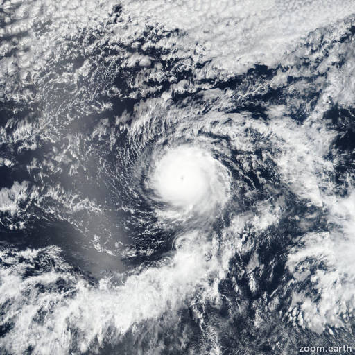 Satellite image of Hurricane Hector 2018