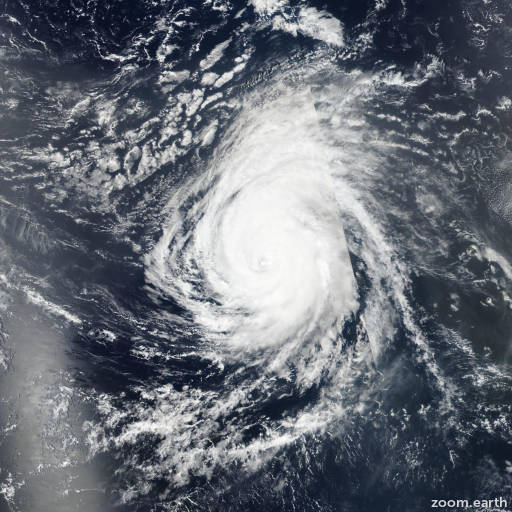 Satellite image of Hurricane Helene 2018
