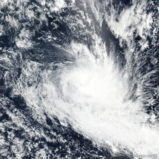 Satellite image of Cyclone Hola 2018