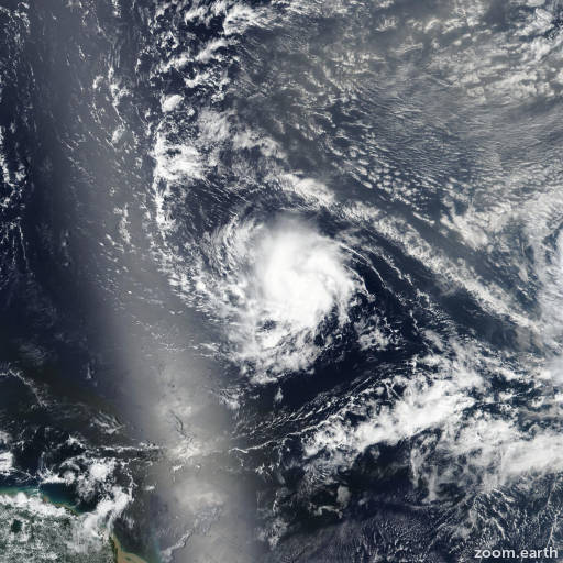 Satellite image of Hurricane Isaac 2018