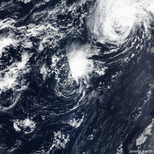 Satellite image of Storm Joyce 2018