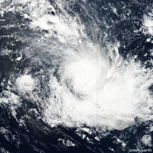 Satellite image of Cyclone Keni 2018