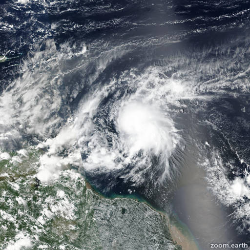 Satellite image of Storm Kirk 2018