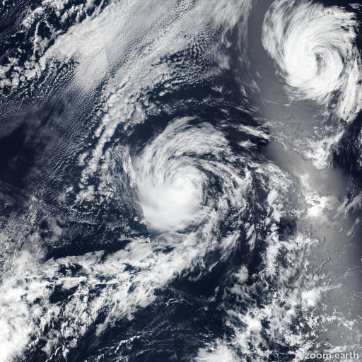 Satellite image of Storm Kristy 2018