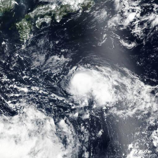 Satellite image of Storm Leepi 2018