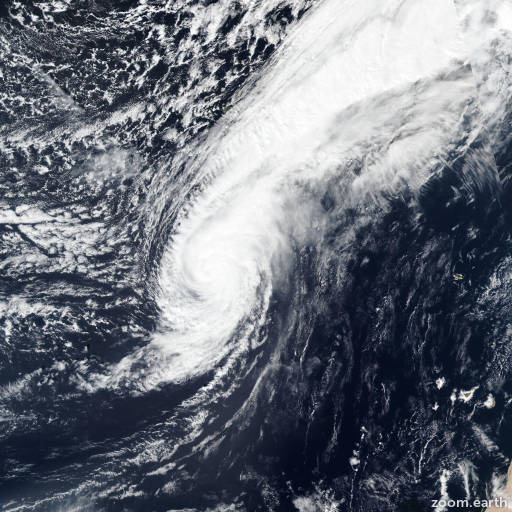 Satellite image of Hurricane Leslie 2018