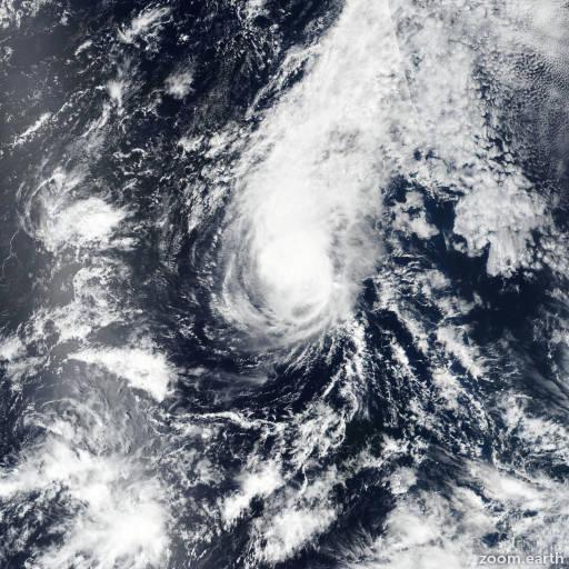 Satellite image of Hurricane Miriam 2018