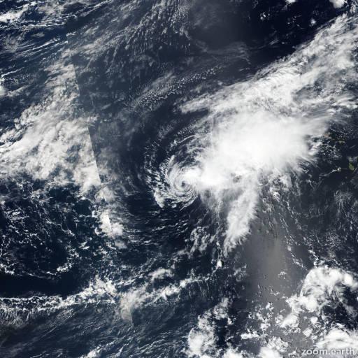 Satellite image of Storm Nadine 2018
