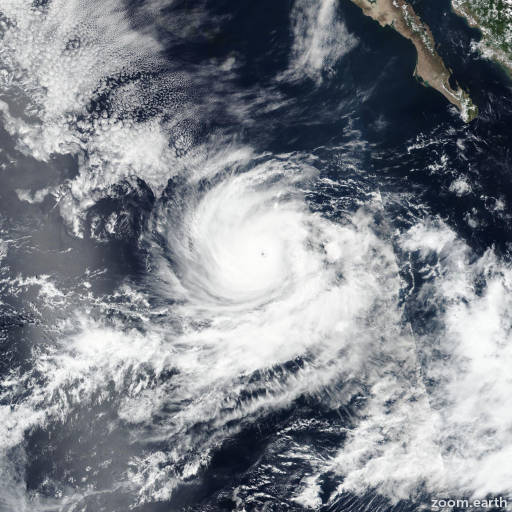 Satellite image of Hurricane Norman 2018