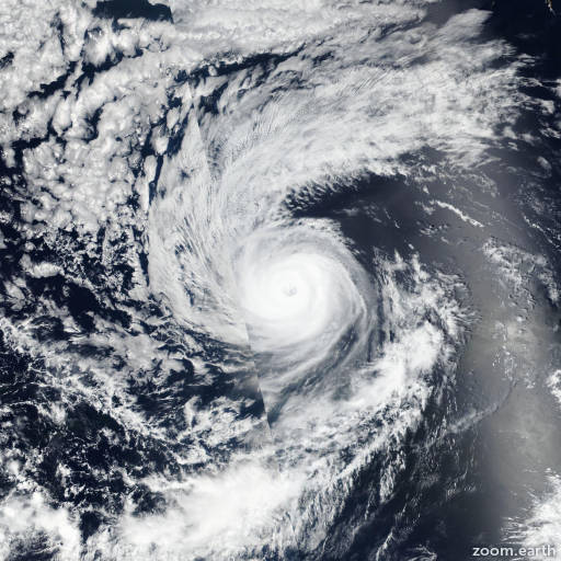 Satellite image of Hurricane Olivia 2018