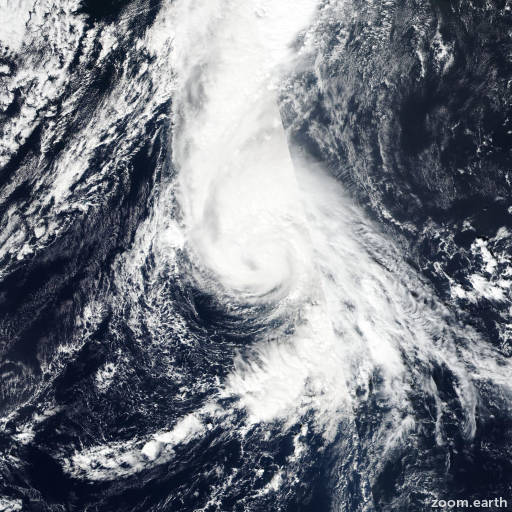 Satellite image of Hurricane Oscar 2018