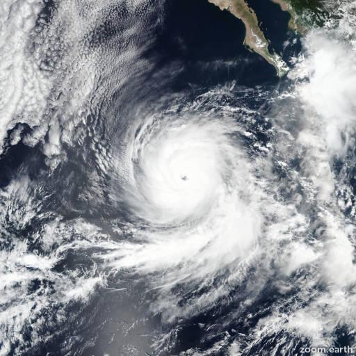Satellite image of Hurricane Rosa 2018