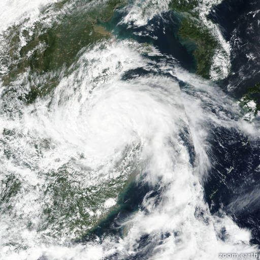 Satellite image of Storm Rumbia 2018