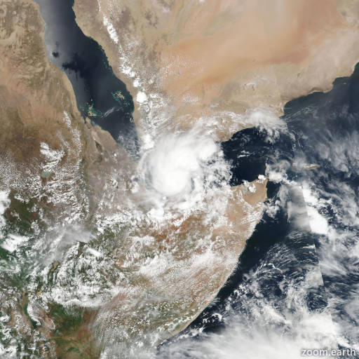 Satellite image of Cyclone Sagar 2018