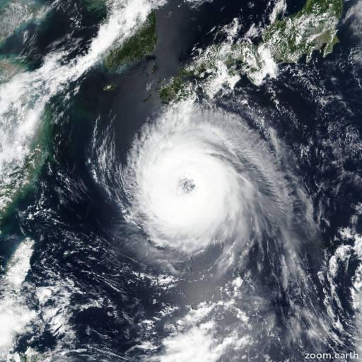 Satellite image of Typhoon Soulik 2018