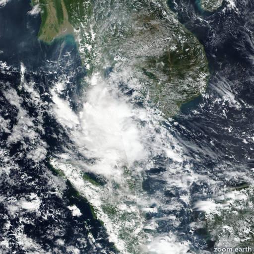 Satellite image of Depression Toraji 2018