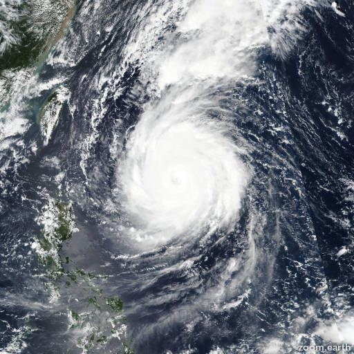 Satellite image of Typhoon Trami 2018