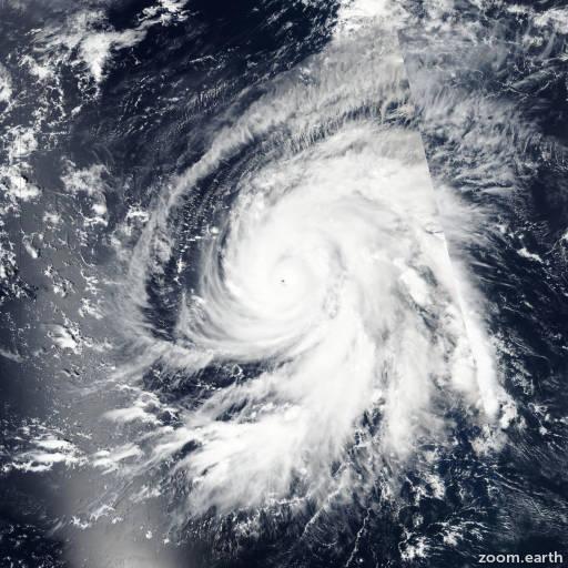 Satellite image of Hurricane Walaka 2018