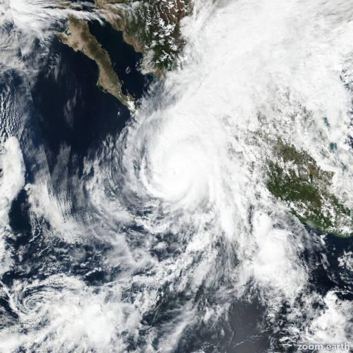Satellite image of Hurricane Willa 2018