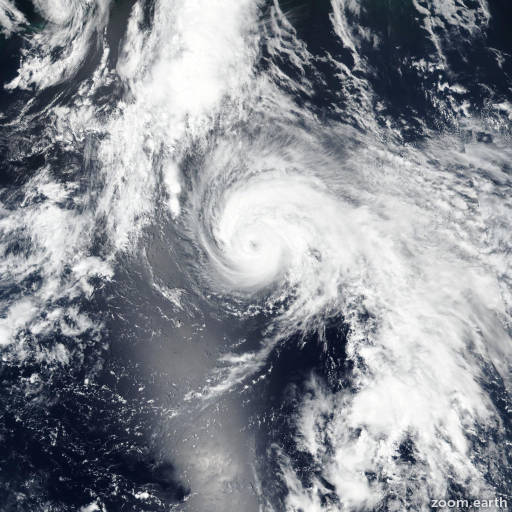 Satellite image of Storm Wukong 2018