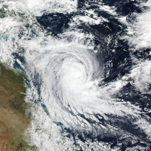 Satellite image of Cyclone Ann 2019