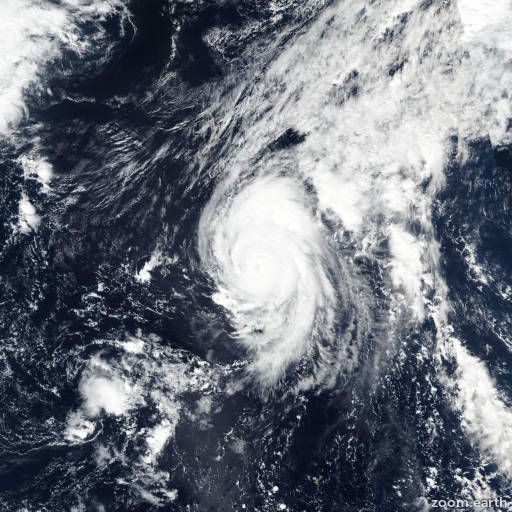 Satellite image of Typhoon Bualoi 2019