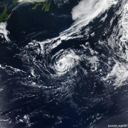 Satellite image of Storm Chantal 2019