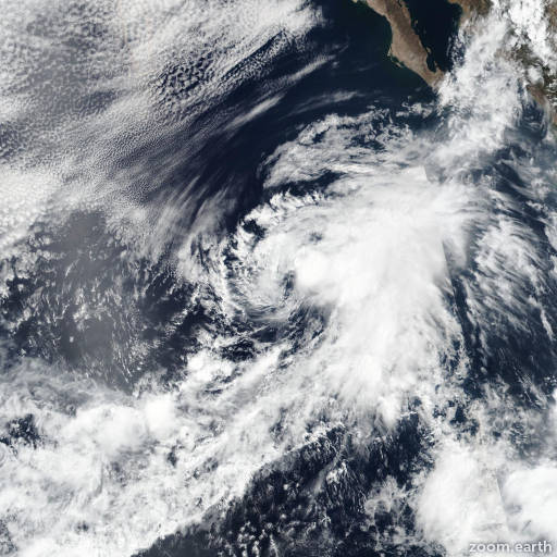 Satellite image of Storm Cosme 2019