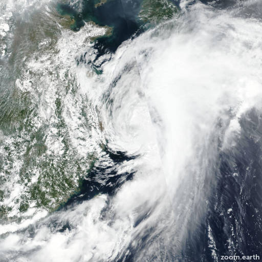 Satellite image of Storm Danas (Falcon) 2019