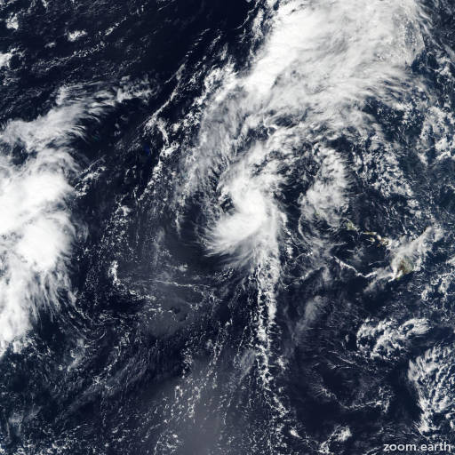 Satellite image of Storm Ema 2019