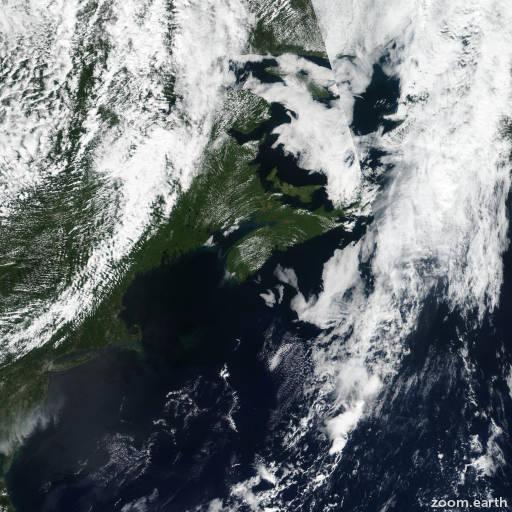 Satellite image of Storm Erin 2019