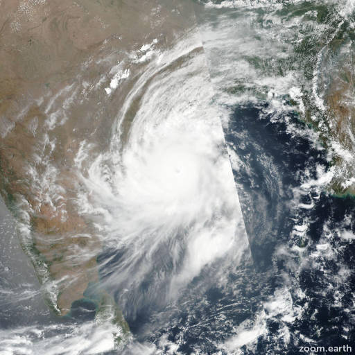 Satellite image of Cyclone Fani 2019