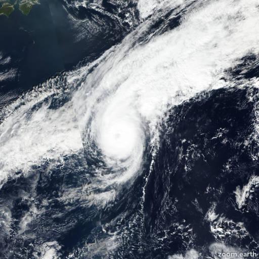 Satellite image of Typhoon Fengshen 2019