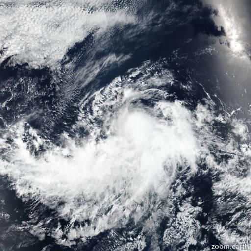 Satellite image of Hurricane Flossie 2019