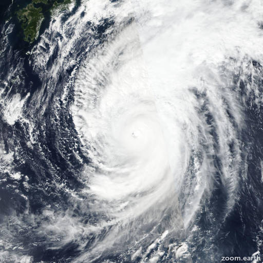 Satellite image of Typhoon Hagibis 2019