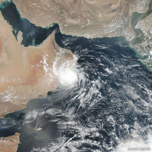 Satellite image of Cyclone Hikaa 2019